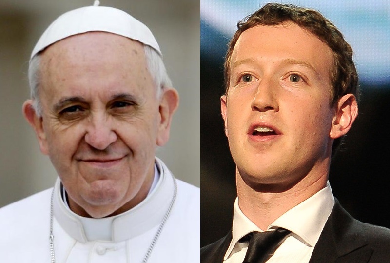 زوكربيرغ و البابا فرنسيس